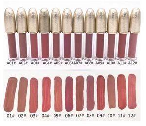 SPEDIZIONE GRATUITA di Alta qualità NUOVO di Marca Matte Liquified Shipping Lustro Lipgloss Retro Smaltato Lipgloss Glaze Lipgloss 12 Colori Diversi