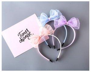 Coreano Virsion dei bambini di un grande arco Punto di Wave trasparente Net Head Hoop Festa delle ragazze tridimensionali Hair Hoop capelli Acessories