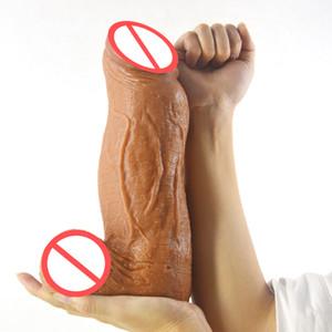 28cm super énorme gode réaliste grand animal gode fort grand pénis flexible bite anal jouets sexuels pour femme hommes sex shop