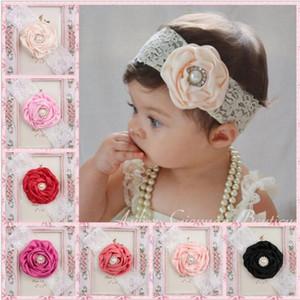 Infantil Flor Perla Headbands Encaje Headwear Niños Bebé Accesorios de Fotografía NewBorn Arco Accesorios Para el Cabello Baby Hair cintas TO511