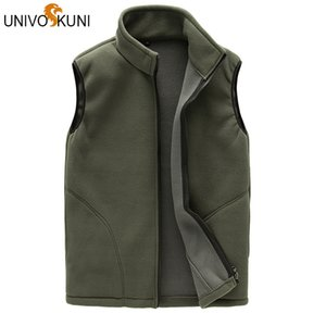 UNIVOS KUNI New Men Winter Coat Warm Sleeveless Jacket Men's Fashion Outerwear For Casual Vest Male Coon Z2740