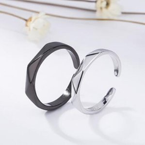 jewelry S925 sterling silver rings for couple classic open rings simple for lovers hot fashion free of shipping