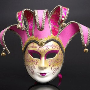 Muti Pattern Venice Mask Halloween Mask Persönlichkeit Geschenke Clown Masquaerades Italien Style Venezianische Vollmasken für Festivals