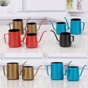 Nouveau 250 ml 350 ml Café Pot En Acier Inoxydable Col de Cygne Verser sur Café Maker Suspendus Oreille Goutte Café Long Bec Pot Thé Bouilloire Outils WX9-353