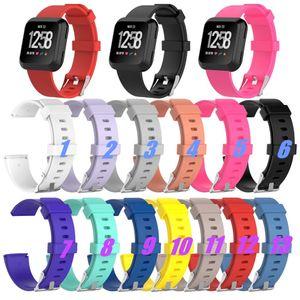 Ersatz-Handgelenk-Band-Bügel für Fitbit Versa Sport-Uhr-bunte Groß Kleine Größe weicher TPU Silikon-Uhrenarmbänder mit Nadel Haken