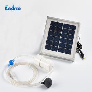 Pompe à air solaire 2W 2L / MIN pour système hydroponique.Pêche de pêche, cadre en alliage d'aluminium, livraison gratuite