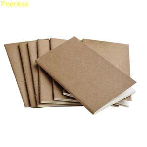 Peerless 6 Boyutu Yumuşak Dana Kağıt NotBlank Not Defteri Kitap Vintage Lekelemek Günlük Notlar Kraft Kapak Dergisi Dizüstü ...