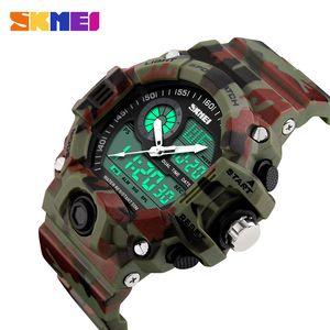 SKMEI Brand Men Sports Watches Digital Quartz LED Military Watch Digital Man Analog Multifunctional Wristwatches Relogio Masculino 1029