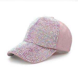 Mädchen-Baseballmütze-Hutdesignerperle Rhinestone-Baseballhüte für Frauen arbeiten beiläufige Kappen-Dame Wholesale um