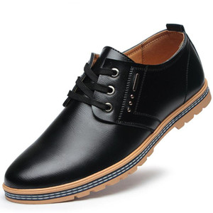 New Top Quality Genuine Leather Men Brogues Shoes Lace-Up Bullock Business Dress Men Oxfords Shoes Male Formal Shoes
