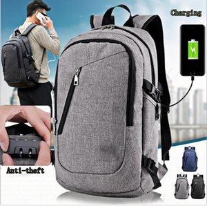 La mochila para portátil Anti Theft Business con puerto de carga USB se adapta a portátiles de 15,6 pulgadas para hombres o mujeres