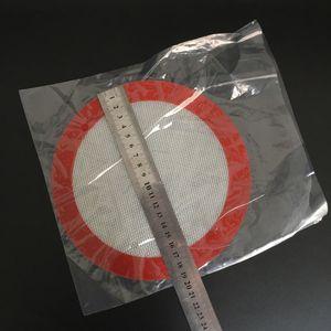 Almofada de Cera de silicone com 29.5 cm * 21 cm quadrado OD: 19 cm folhas redondas almofadas de Silicone esteiras de Cozinha Ferramentas para erva seca frascos dab vapor de cera