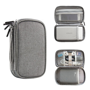 USB 전원 은행 케이스 휴대용 파우치 새로운 디자인 여행 가젯 주최자 가방 휴대용 디지털 케이블 가방 전자 액세서리 저장