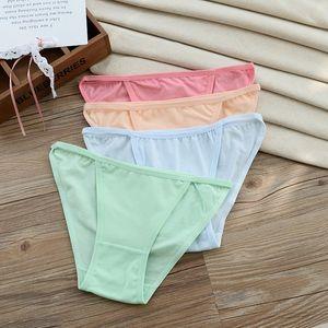 Fasciola Pure Cotton Ma'am Unterhosen Full Cotton Slip Candy Color Niedrig geschnittene Damenunterhose