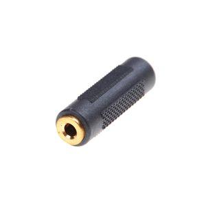 Chapado en oro de CC de 3,5 mm hembra a hembra de 3.5mm jack estéreo Aux acoplador adaptador Conectores de audio