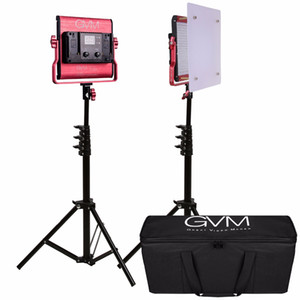 Luz de fotografía GVM 480LS con soporte CRI97 TLCI97 2300K-6800K Luz de panel de video LED para fotografía y video