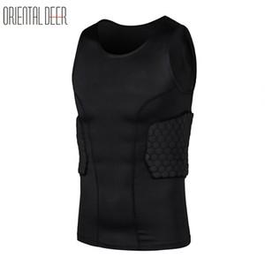 Oriental Deer Basket a nido d'ape Spugna EVA Vest Back Support Difendi Anti-collision Sleeveless Sport Shirts Chest Protector