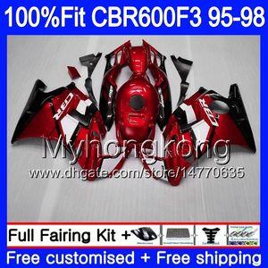 CBR600FS pour Honda CBR FS CBR600RR 1996 1995 1998 1997 CRFR600F3 2MY66 Injection rouge foncé F3 600F3 Cerfling CBR F3 CBR600 95 96 97 98 600 HNQI