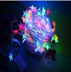 10M100led Star Lights Pentagram Light Strings Starry Party Christmas Day Garden Wedding Decoration Decorative Lantern