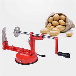 Yeni Tasarım Manuel Patates Makinası Bükümlü Patates Dilimleme Spiral Sebze Kesici Parmak Patates Kesme Aracı