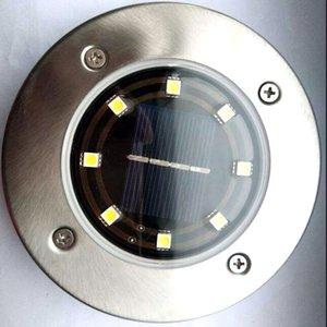 8 LED Solar Power Buried Licht unter Boden Lampe Outdoor Pfad Weg Garten Haus Dekoration