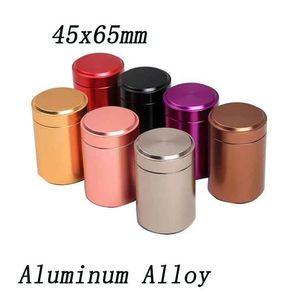 La prova XL Herb Tabacco Keychain del contenitore ermetico Durable Coperchio alluminio impermeabile Stash Jar gioielli Tea Pot bagagli 2 misure più colori