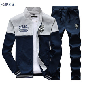 FGKKS 2018 Männer Sportswear Hoodies Set Neue Herbst Anzug Kleidung Trainingsanzüge Männlich Sweatshirts Mäntel Trainingsanzüge