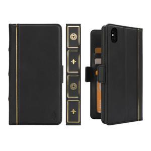 Luxo removível magnético flip livro estilo carteira case para iphone xs xr couro protetor 3 slots de cartão saco para iphone xs max