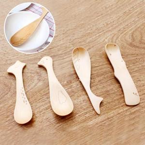 série animaux de dessin animé cuillère en bois enfants cuillère vaisselle créative