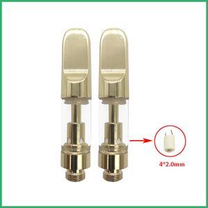 Bobina de cerámica superior de oro Logotipo de la marca Cartuchos de vidrio de Pyrex Tanque CE3 BUD Toque Aceite grueso Vaporizador G5 mini Atomizador G2 vapor AT165