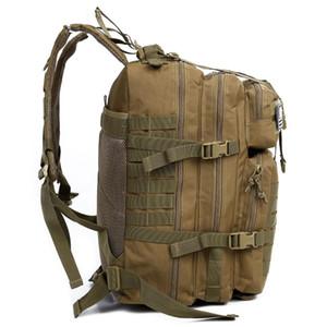LJL 34L Tactical Assault Pack Zaino dell'esercito Molle impermeabile Bug Out Bag Piccolo zaino per escursioni all'aperto Caccia campeggio (Kha