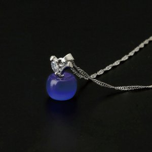 Collane di gioielli Nuovo arrivo Vendita calda Accessori moda Cristallo Cat's Eye Piccolo per apple Pendant Necklace Women Gift