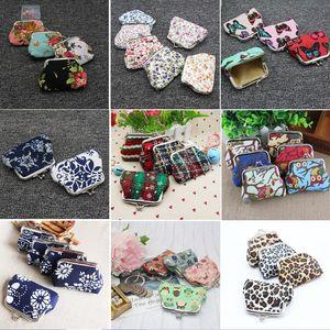 Mode Hot Vintage fleur porte-monnaie toile porte-clés portefeuille hasp petits cadeaux sac d'embrayage sac à main sacs de noël 45 styles