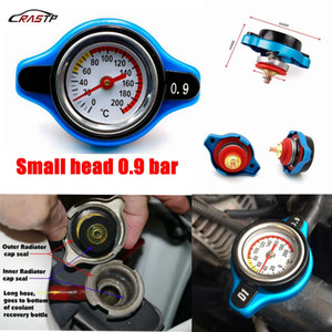 RASTP- RACING Thermostat Radiator Cap Cover + Water Temp Gauge 0.9 Bar or 1.1 Bar or 1.3 Bar Cover RS-CAP001
