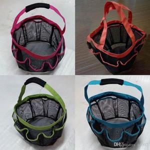 8 Pocket Mesh Doccia Caddy Tote Eco Friendly con manici sporchi Vestiti Wash Bag Cestini di stoccaggio pieghevoli in plastica ad alta capacità 10 5wx ZZ