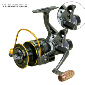 2017 تصميم جديد مزدوج الفرامل الصيد بكرة سوبر قوي الكارب الصيد المغذية الغزل بكرة الغزل عجلة نوع الصيد عجلة Y18100706