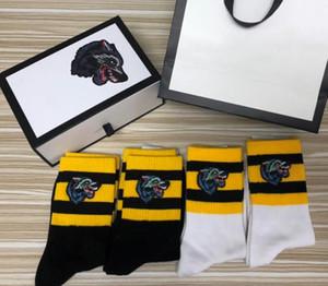 2018 Мода Волк вышитые носки бренд хлопок спортивные носки свободного покроя носки для унисекс открытый спортивные чулки носки оптом