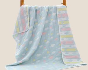 Yıkanabilir% 100% Pamuk Gazlı Bez Yorgan Yaz Yatak Battaniye Çocuklar Süper Yumuşak Klima Battaniye veya Bebek Banyo Havlusu