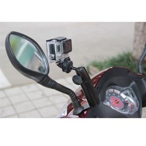 오토바이 사이드 미러 홀더 마운트 Xiaomi 이순신 4K GoPro 영웅 6 5 4 3+ 액션 카메라 SJCAM sj4000 EKEN H9 삼각대 Monopod