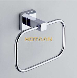 HOT SELLING, FREE SHIPPING, Bathroom towel holder, Stainless steel Wall-Mounted Round Towel Rings ,Towel Rack,YT-10791