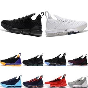 Yeni designerThru 5 LE KRAL 16 ADAM Basketbol Ayakkabıları mens Taze Bred Üçlü Siyah Oreo Lakers Eğitmenler erkekler Spor Sneaker Boyutu 7-12