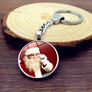 24 adet Noel Baba Kolye Takı Cam Fotoğraf Zaman Mücevher Anahtar Kolye Cabochon Kolye Anahtarlık Imi Kol Düğmesi Küpe Bilezik Karışık Toplu
