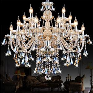 Modern K9 lustre de cristal Sala lustres de cristal Decoração Pingente Lustres Candle Light Home Lighting Lamp Indoor