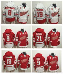2017 Centennial Classic 100a Detroit Red Wings Pullover 71 Dylan Larkin 9 Gordie Howe 19 Yzerman 40 Zetterberg White Hockey Hoodie Jerseys