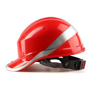 سلامة خوذة العمل غطاء ABS المواد العازلة مع شريط عاكس القبعة الصلبة موقع البناء العازلة الخوذ واقية