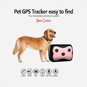 Impermeable MiNi Mascota GSM Tracker GPS localizador D69 con collar para perro Gato de larga espera Geo-Fence LBS APP Dispositivo de seguimiento de la plataforma