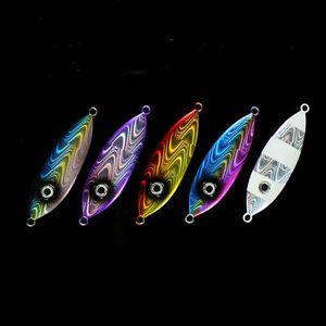 Grandi occhi lento maschere di richiamo di pesca 100g 160g 250g Power Metal Jigging Lure Cucchiaio acqua salata esche da pesca per Deep Sea