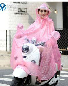 Wholesale retail, free shipping,Raincoat  Electric cars poncho   Single motorcycle removable hat, reflective flower paern