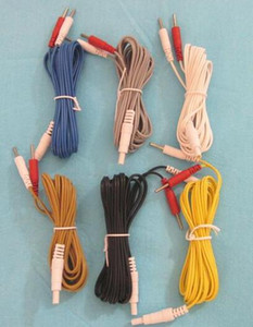 5PCS Hwato SDZ-II agopuntura elettronica strumento cavo di uscita elettro-agopuntura dispositivo di coccodrillo del cavo 5 colori