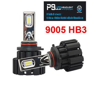 1 компл. 9005 HB3 100 Вт 13600LM P9 светодиодные фары комплект 2.5 мм ультра тонкий нет слепой флип чипы вентилятор мощность Белый 6000K автомобилей передние лампы лампы 50 Вт 6800LM